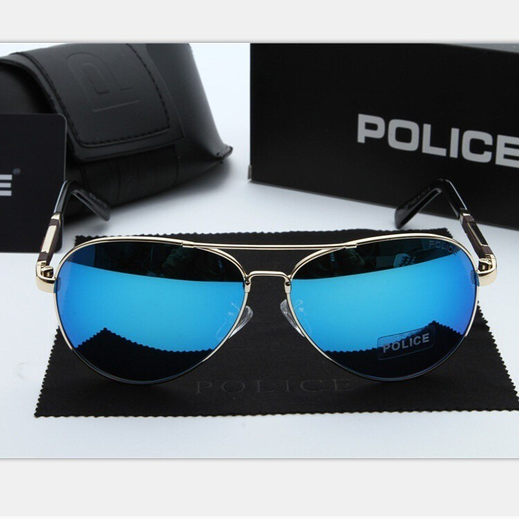 4046f77cfeb7 2017 POLICE Polarized Fashion Cool Men s Outdoor Metal Frame Sunglasses