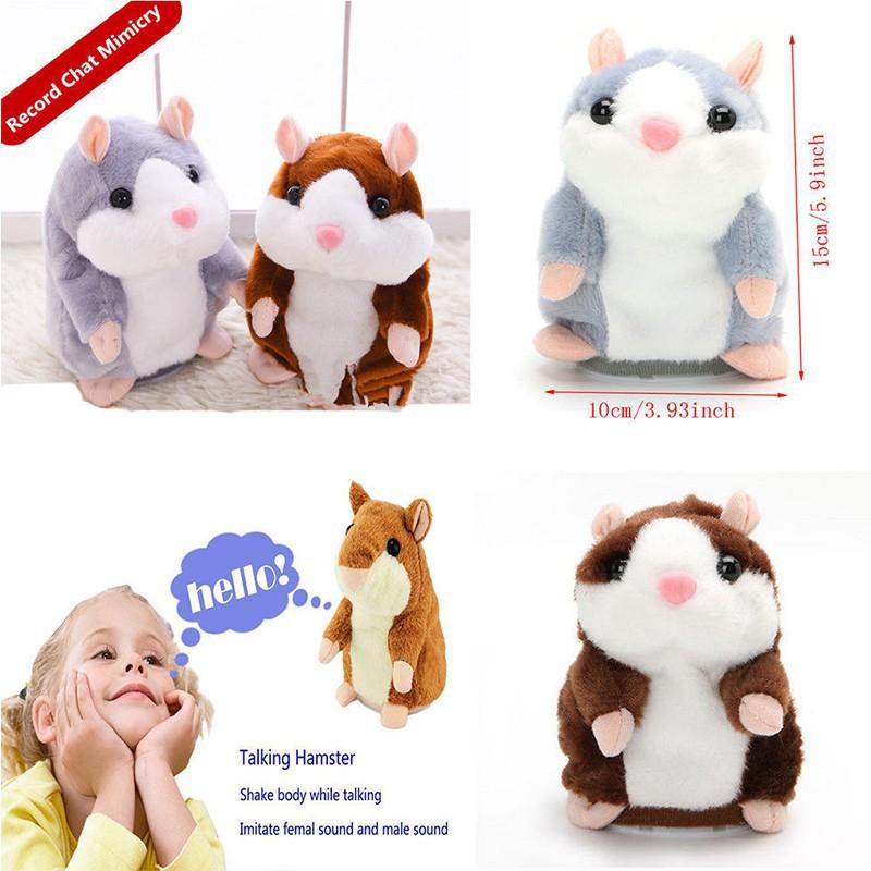 Toys & Hobbies Humorous Speaking Electric Hamster Shaking Nodding Vole Dude Plush Toy Electronic Plush Toys