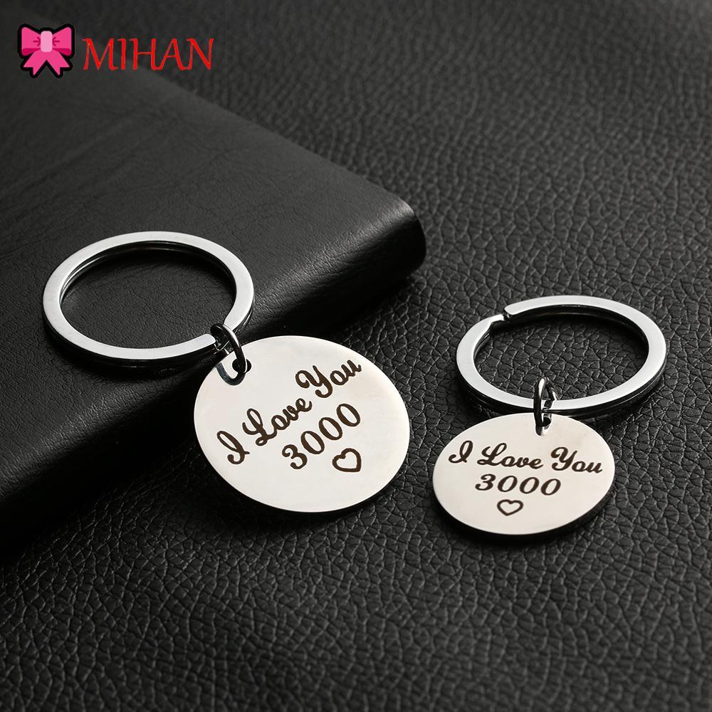 Gift Jewelry Lovers Present Key Ring I Love You 3000 Keyring Car Pendant Keyfob