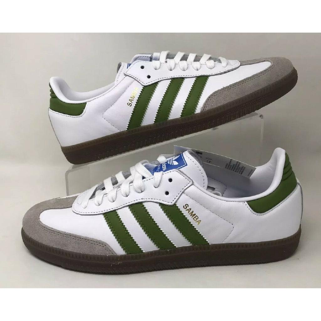 En la cabeza de muerto segmento  Adidas Samba OG Shoes EE7055/White/Olive(Green/Light Brown/Gum/Sz 9 US/free  Ship | Shopee Malaysia
