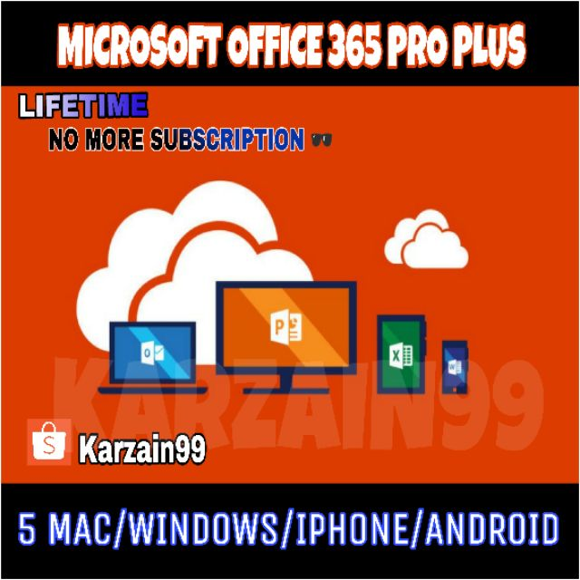microsoft office 365 professional plus lifetime