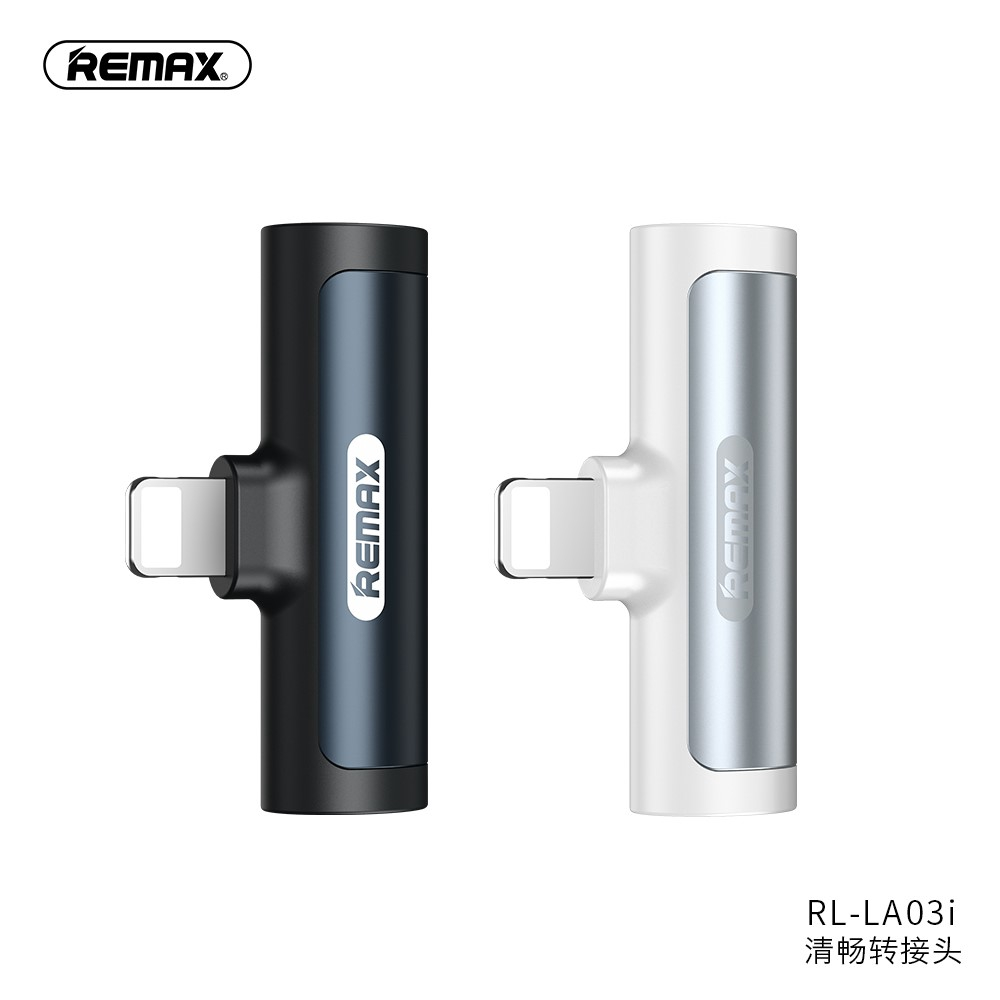 Remax 2 in 1 Type-C or IOS Charger Converter to 3.5mm Headphone Audio Jack Adapter RL-LA03