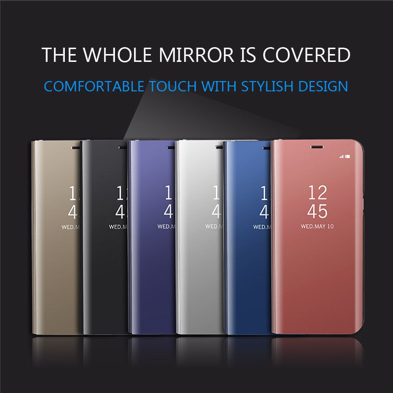 super popular f731d 60448 Case For Huawei P20 Pro Smart Mirror Flip Clear Stand leather