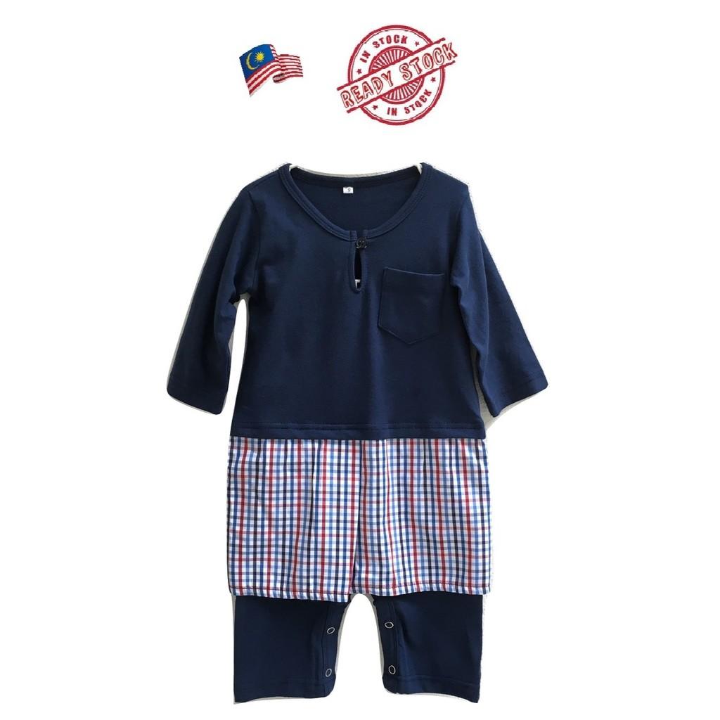 257dcd551 J039  Jumper Baju Melayu Samping Baby Romper Raya (Size 6-9 mths ...