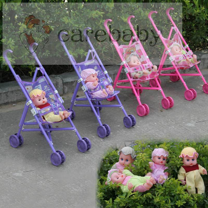 Girls Pram Kids Pushchair Buggy Stroller Toy