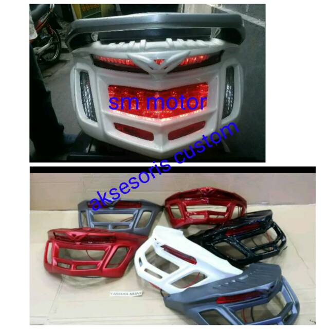 Close / cover trim rear lights nmax + ducktail led ...