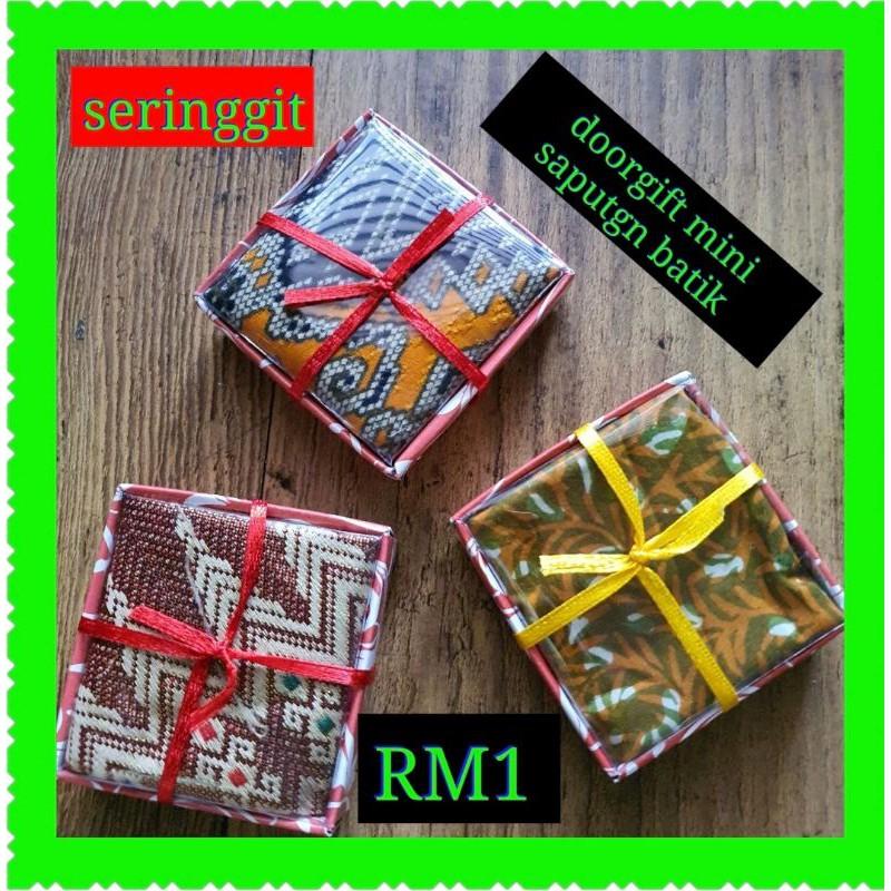 *DOORGIFT RM1.00 SAPUTGN MINI BATIK*10unit rm10. siap box