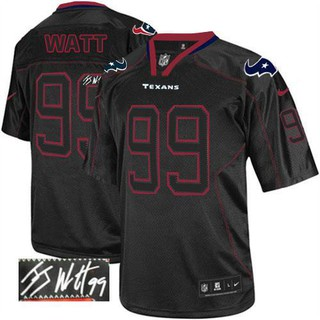timeless design d24ed 9662d Nike Texans 99 J.J. Watt Lights Stitched NFL Elite Autographed Jersey