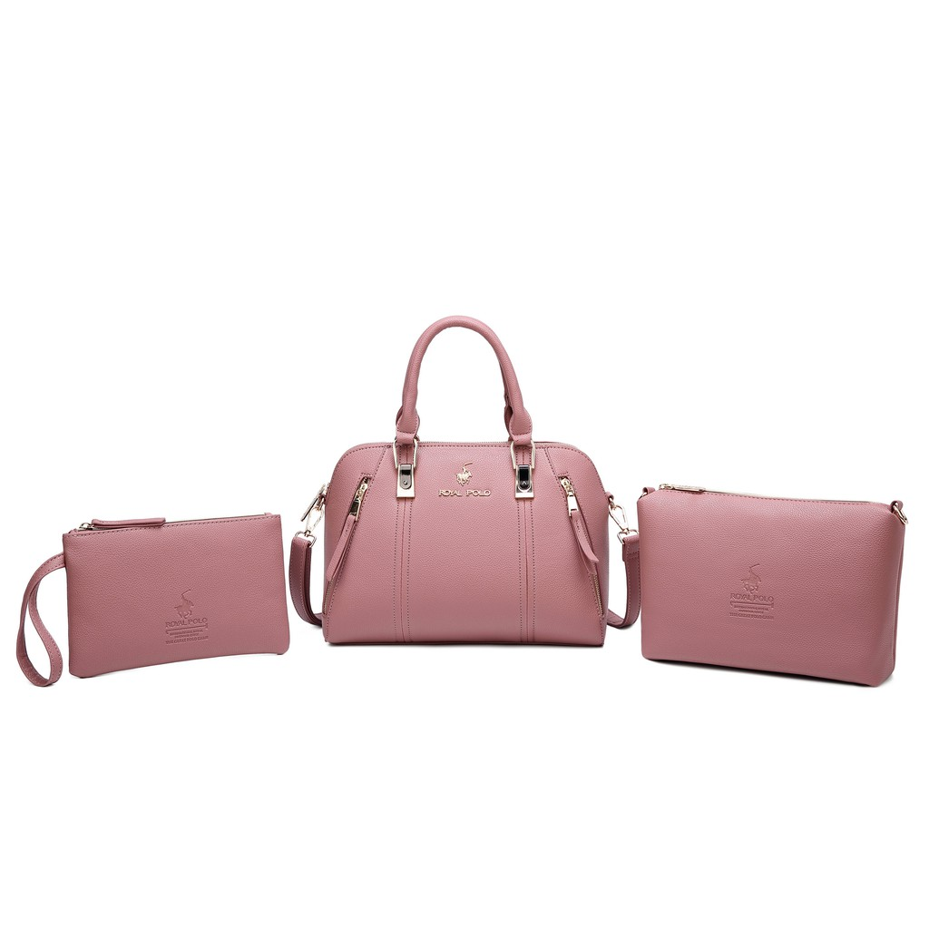 ROYAL POLO Darcie Handbag 3in1 Set (Free Sling Bag And Make Up Pouch)