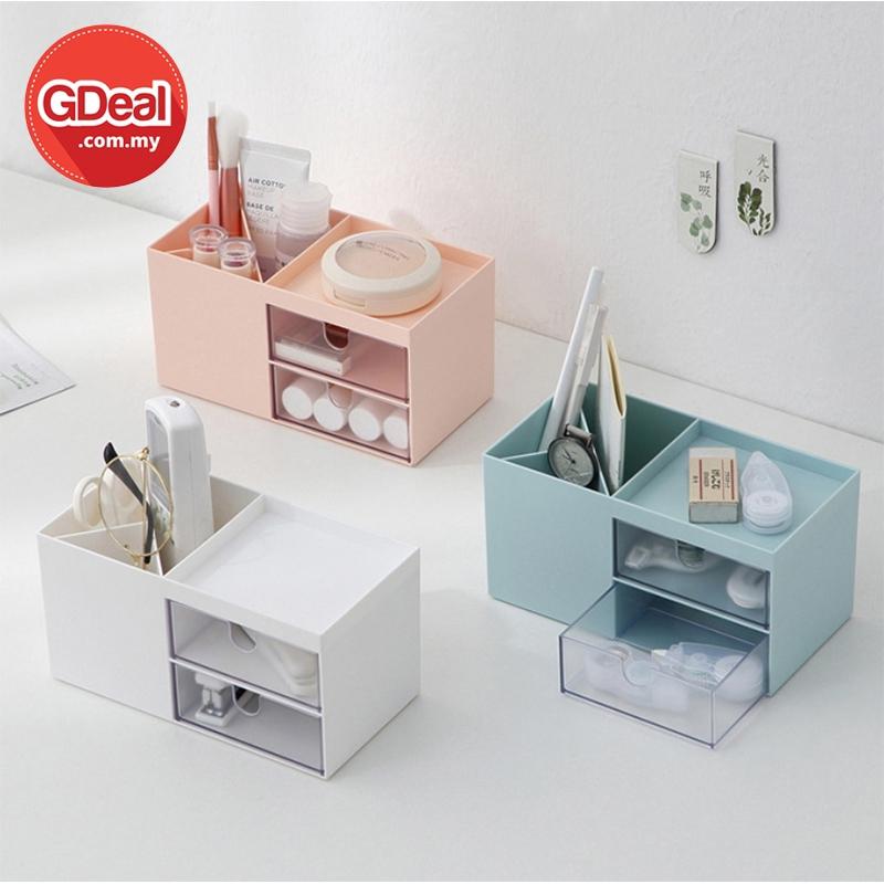 GDeal Multifunction Drawer Cosmetic Storage Box Makeup Case Organizer Container Kotak Alat Solek كوتق الت سوليق