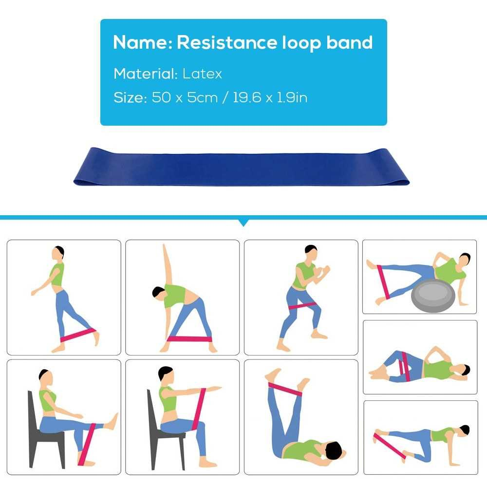 5pcs Yoga Equipment Set Include Yoga Ball Yoga Blocks Stretching Strap Resistance Loop Band Exercise Band Pink