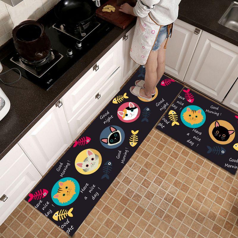 地垫厨房地毯简约卫生间门口家用长条脚垫进门脚垫Floor mats, kitchen carpets, simple bathroom doorways, household long mats, door mats