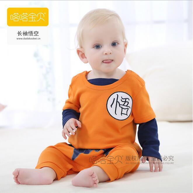 e60cf445f530 Baby Dragon Ball Goku Costume Newborn Infant Boy Clothes Romper ...
