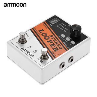AMMOON STEREO LOOPER EFFECTS PEDAL POWER SUPPLY ADAPTER UK 9V