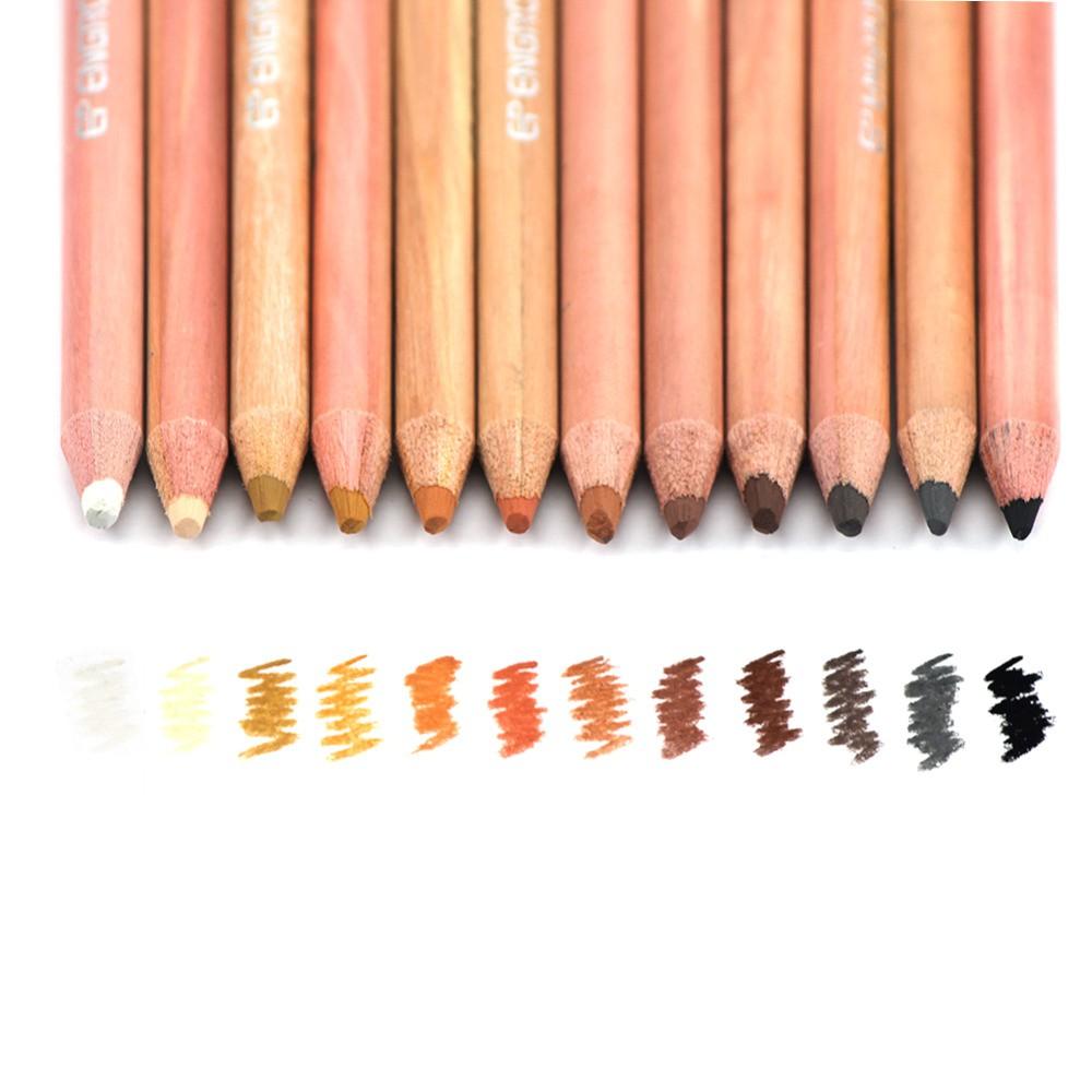 Professional Skin Tints Soft Pastel Colored Pencils 12 pcs for Portrait  Drawing