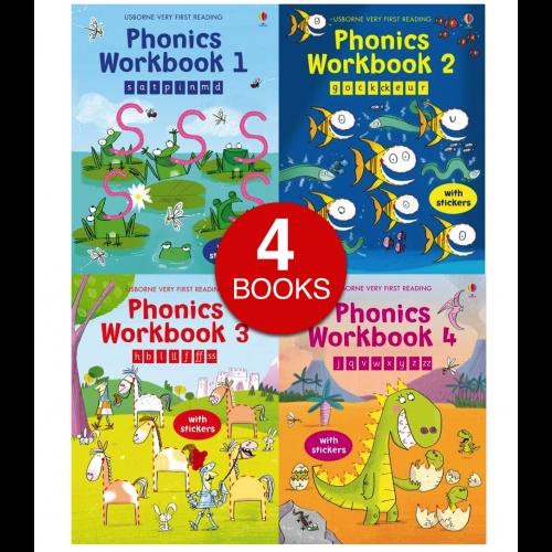 Usborne Phonics Activity Collection (4 books)