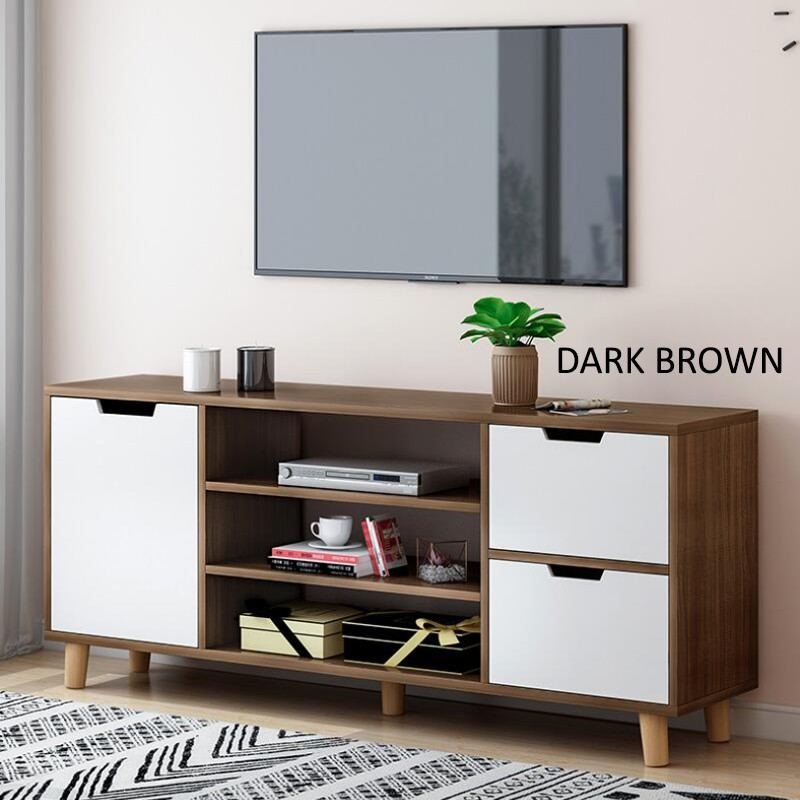 GDeal Simple And Elegant Strong Load Bearing Stable Large Capacity Storage TV Cabinet Coffee Table