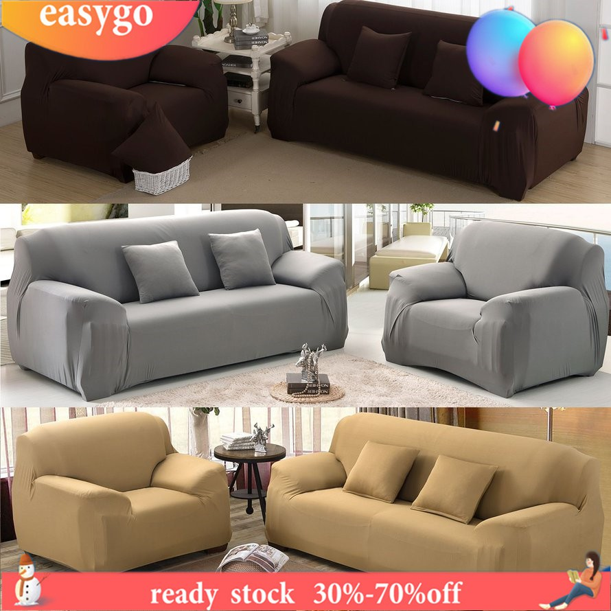 Sofa Couch SlipCover Covers Elastic Fabric Stretch Seater Protector Chair Cover
