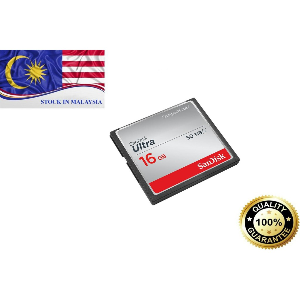 SanDisk Ultra 16GB Compact Flash Memory Card (Ready Stock In Malaysia)