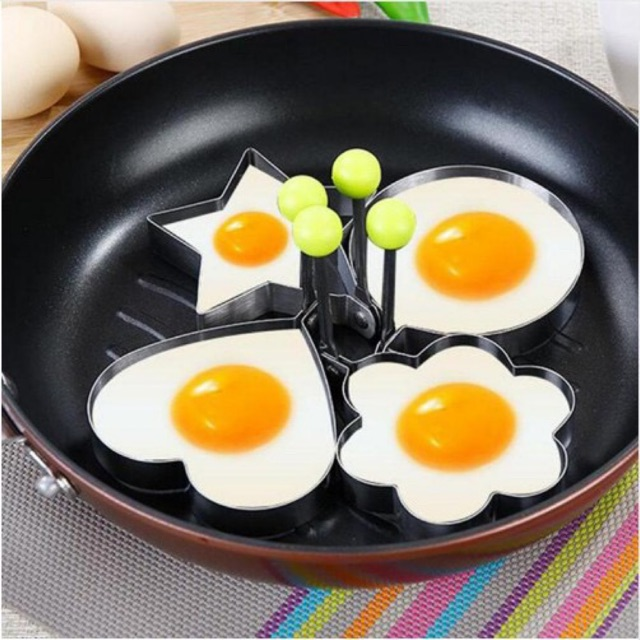 Stainless Steel Pancake Mould Ring Cooking Fried Egg Shaper Kitchen Gadget