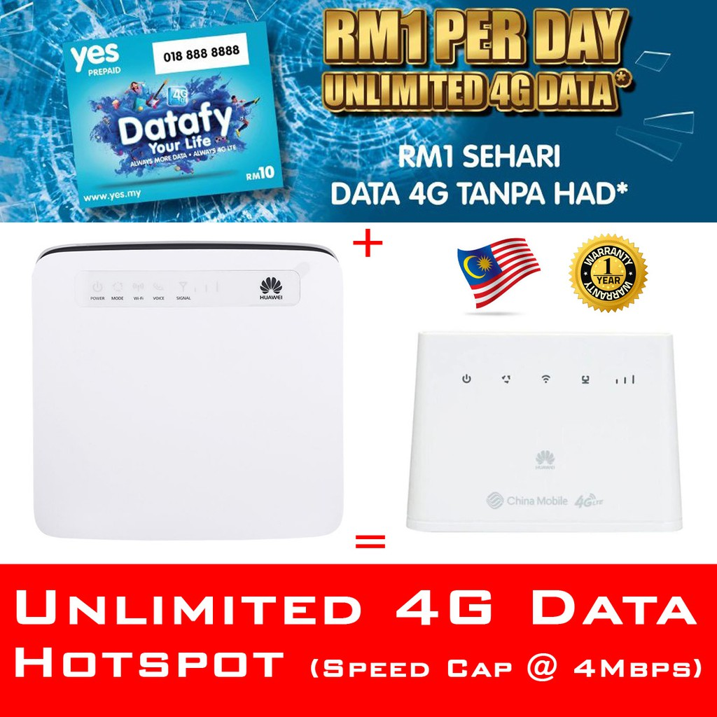Modified Router bypass Hotspot + Yes 4G Komfem 4G unlimited data sim card