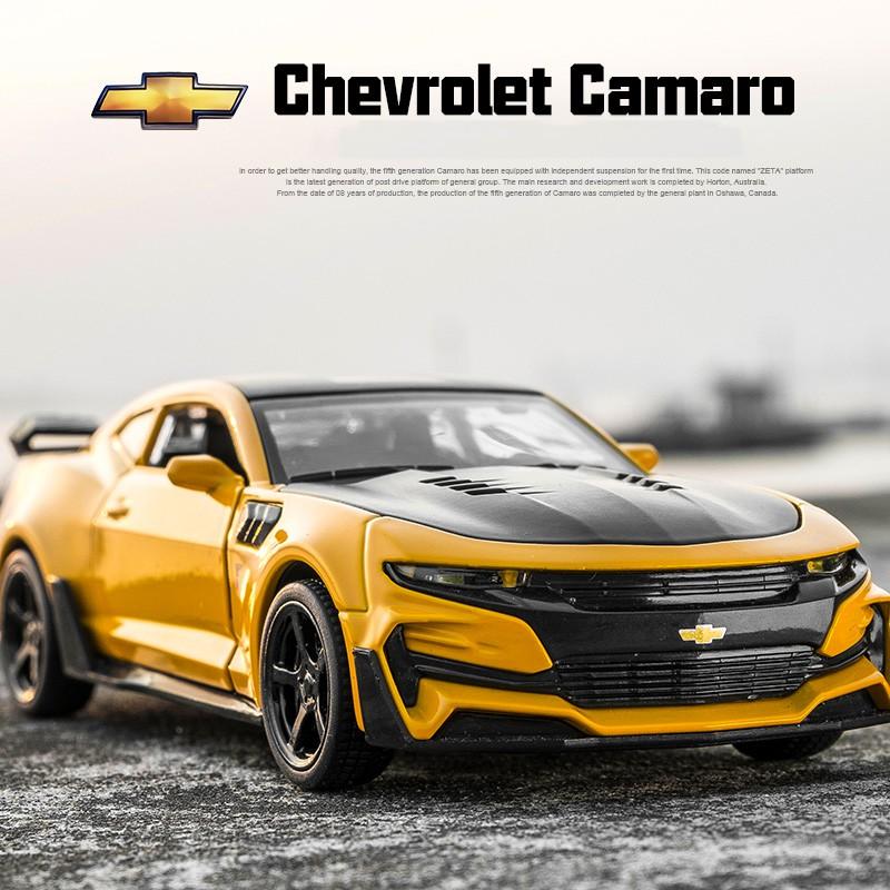 MINIAUTO 1:32 Transformers 5 Bumblebee Chevrolet Camaro Diecast Car Model