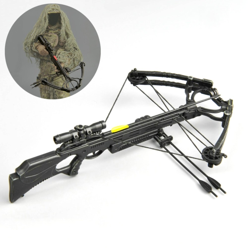 1/6 Scale Crossbow Set with 8pcs Arrows Weapon Model for Action Character  DIY