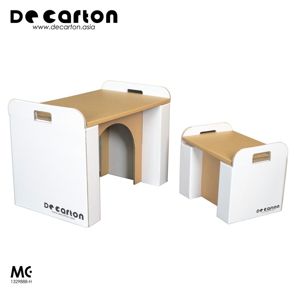 De Carton Cardboard Table & Chair Set for Kids