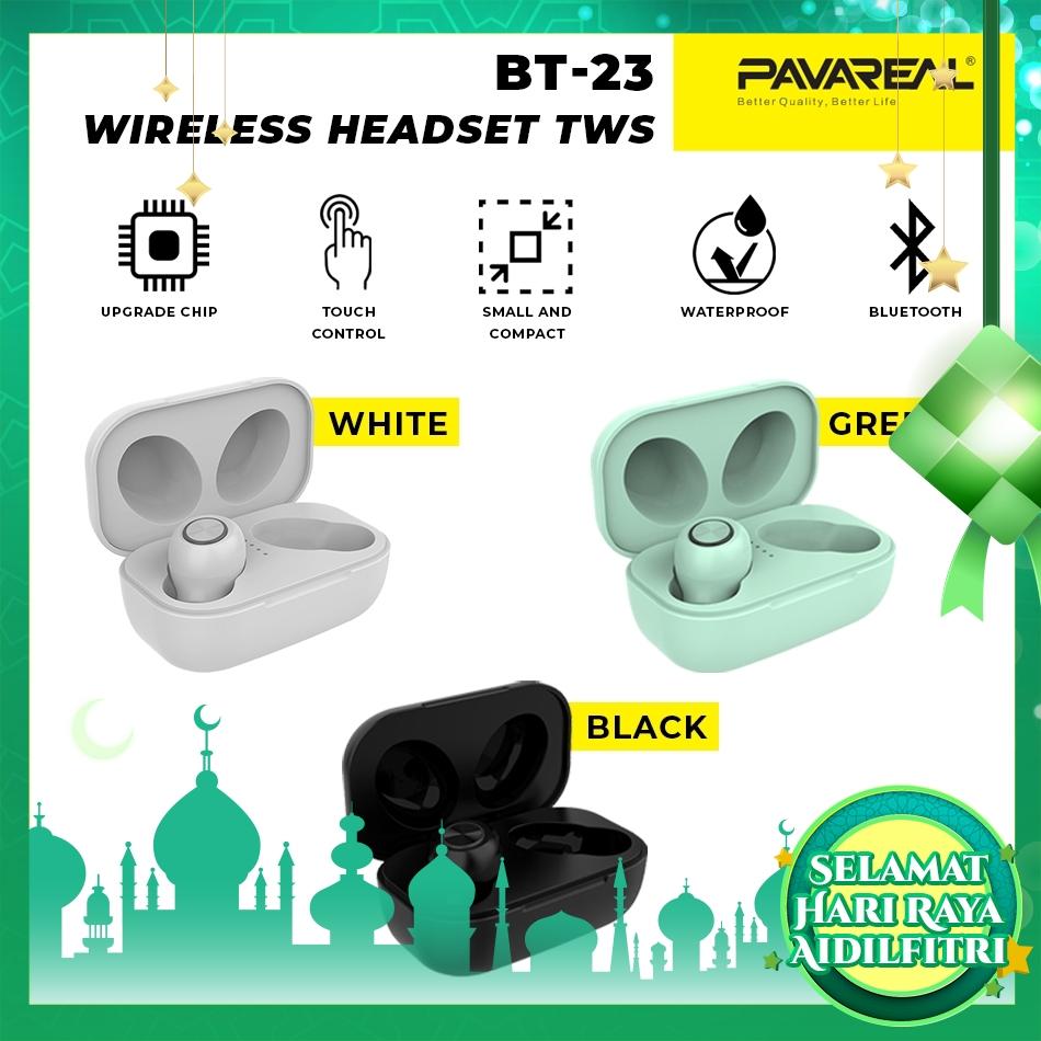 PAVAREAL PA-BT23 TWS V5.0 Bluetooth Wireless Headset Headphone Hi-Fi HD Sound Nature & Pure Binaural Call Music Play