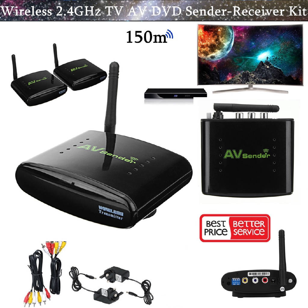24ghz 150m Wireless Av Sender Tv Stb Audio Video Transmitter Simple Ir And Receiver Circuit Pat Db Shopee Malaysia