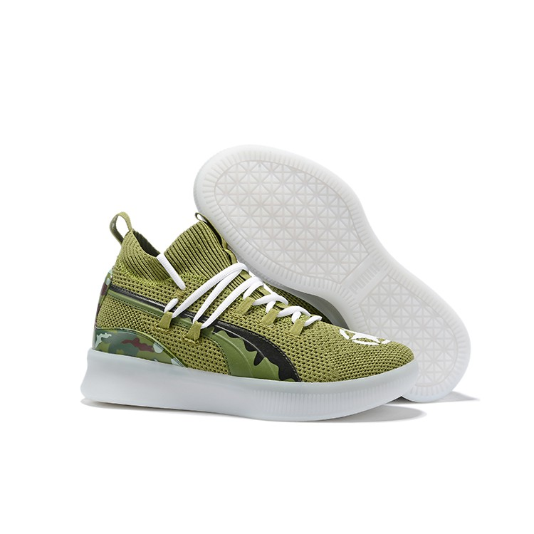more photos 50e21 b3460 Original Puma Ocean Drive Clyde Court Disrupt Sports Shoes High Quality  Breathable Basketball Shoes Camouflage Green