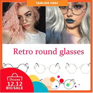 47386c39e4 Men Large Oversized Metal Frame Clear Lens Round Circle Eye Glasses Nerd  Fashion