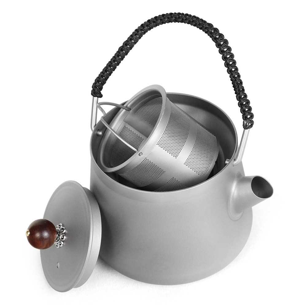 Stainless Steel Water Coffee Pot Outdoor Camping Portable Tea Kettle Ultralight