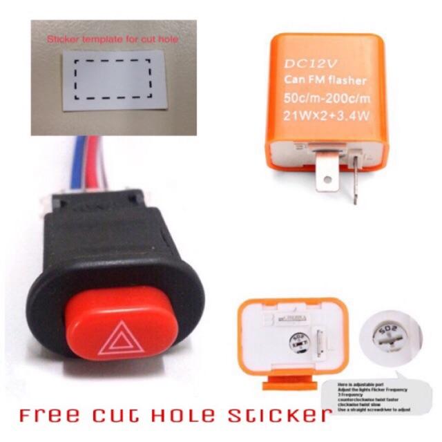 Freesticker  Hazard Light Double Signal Rs150 Y15 Lc135