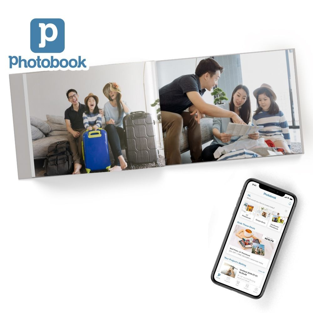 "[Photobook App Exclusive] 11"" x 8.5"" Medium Landscape Imagewrap Lay Flat Hardcover Photobook, 20pages"