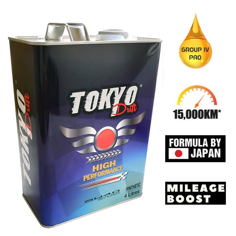 Tokyo Drift Engine Oil 5W40 Fully Synthetic 15,000km (Ready Stock, Fast  Ship) 4L