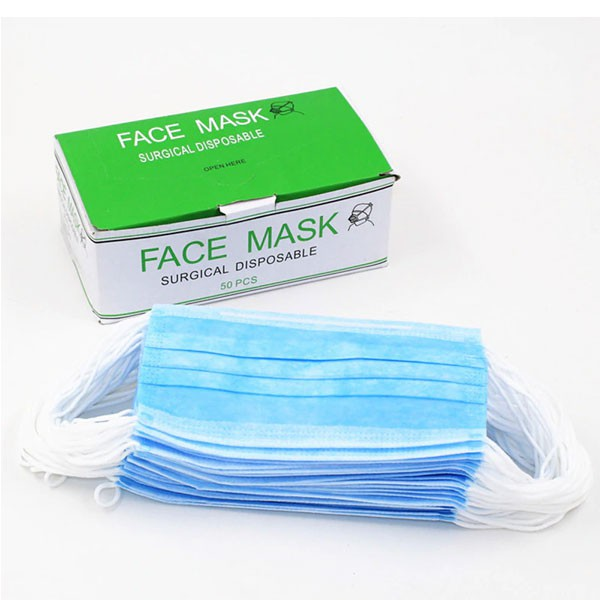 Disposable Face Box Surgical Mouth Flu 3ply Ear 50pcs Mask Loop