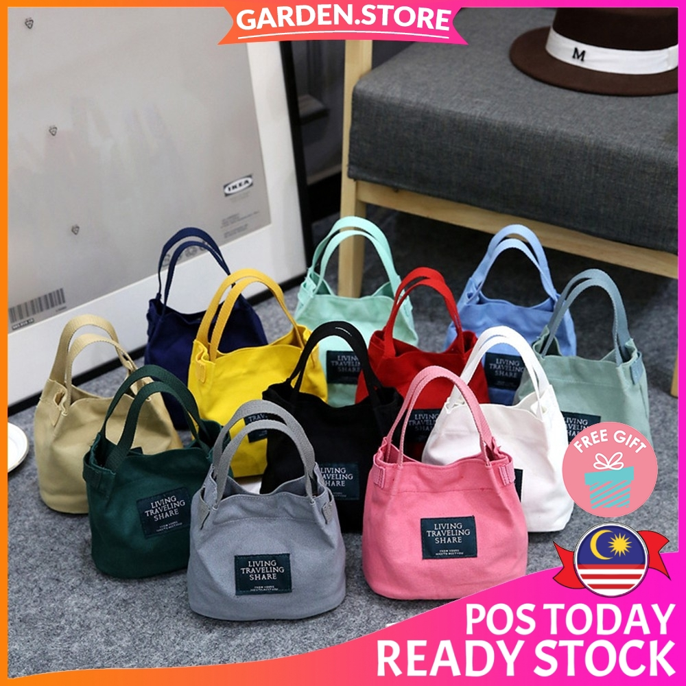 f23223200171 【READY STOCK + 🎁】Korean Fashion Top Seller Premium Canvas Fashion Sling  Bag Handbag (Garden Store - 9108)