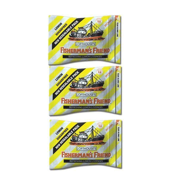 Fishermans Friend Sugarfree Lemon Lozenges 25G X 3 Packs