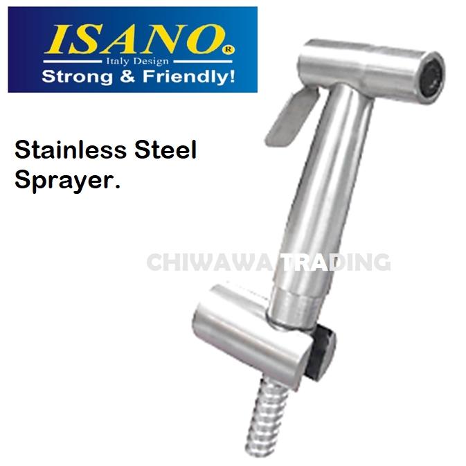ISANO 1730BS High Pressure Nozzles Stainless Steel Toilet Spray Bidet Garden Car Wash Sink Water Hose Sprayer Gun Cannon