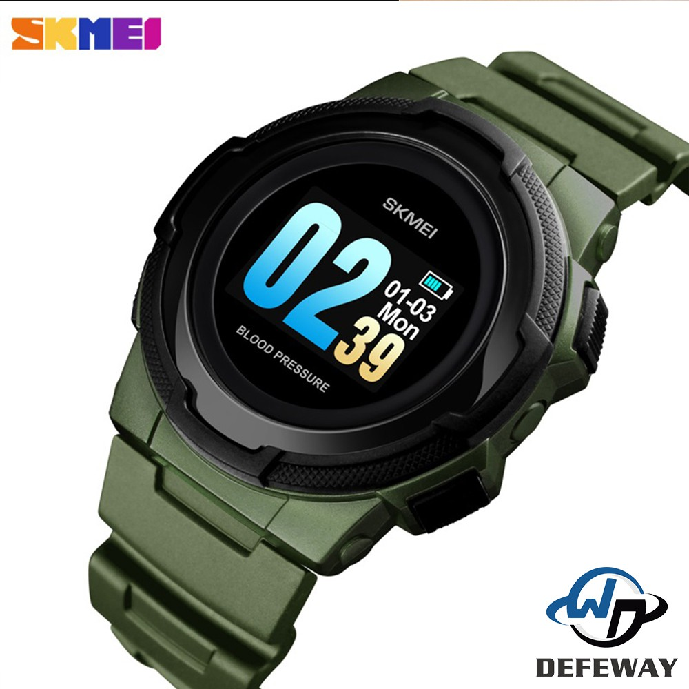 SKMEI Smart Watch Men Digital Watches Multi-function Color Display 3Bar  Waterproof Bluetooth Watch 1321