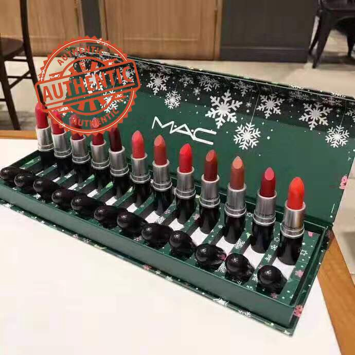 Christmas Gifts 2019 M A C Christmas Lipstick Kit 12pcs Set Shopee Malaysia