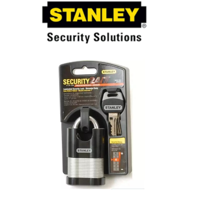 STANLEY S828-228 LAMINATED SECURITY LOCK 2' 60MM (SHROUDED)