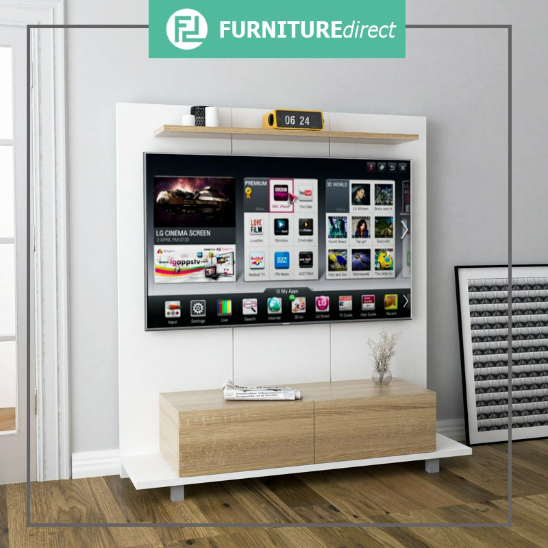 Furniture Direct ARNOLD 160cm TV wall system-white