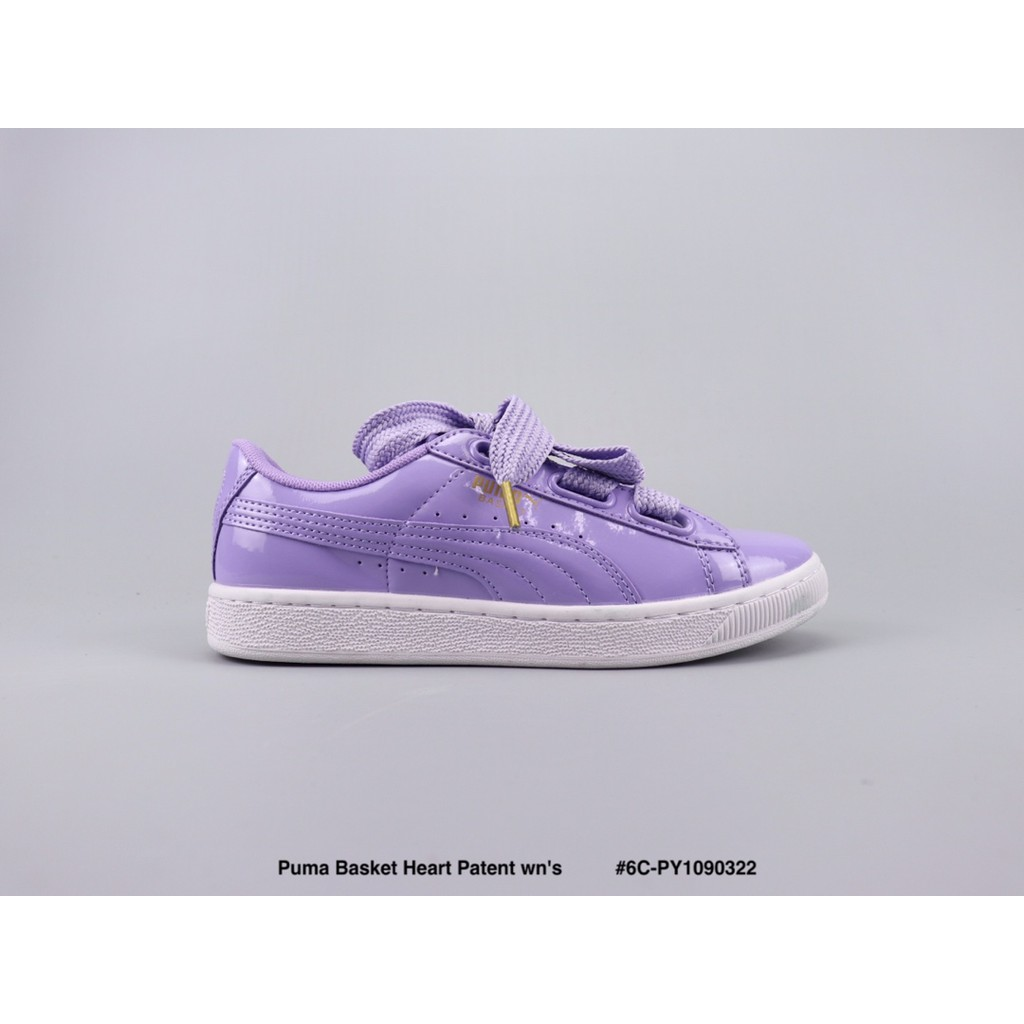 new arrive 3d391 c5dee readystock Puma Basket Heart Patent wn's low-top shoes women's shoes gray