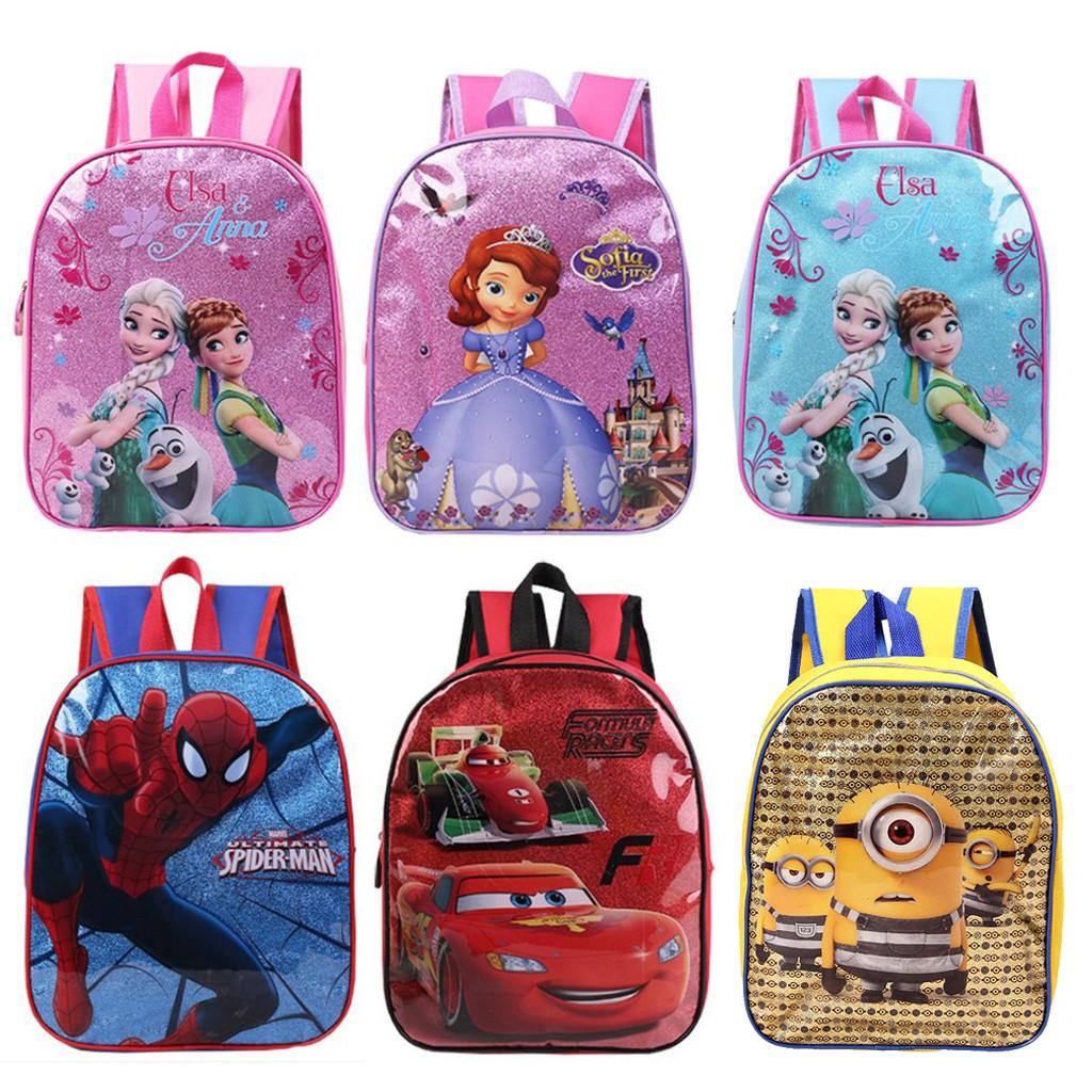 การ์ตูนเด็กกระเป๋านักเรียน กระเป๋าเป้สะพายหลังของโรงเรียน กระเป๋านักเรียน สำหรับเด็ก กระเป๋าเป