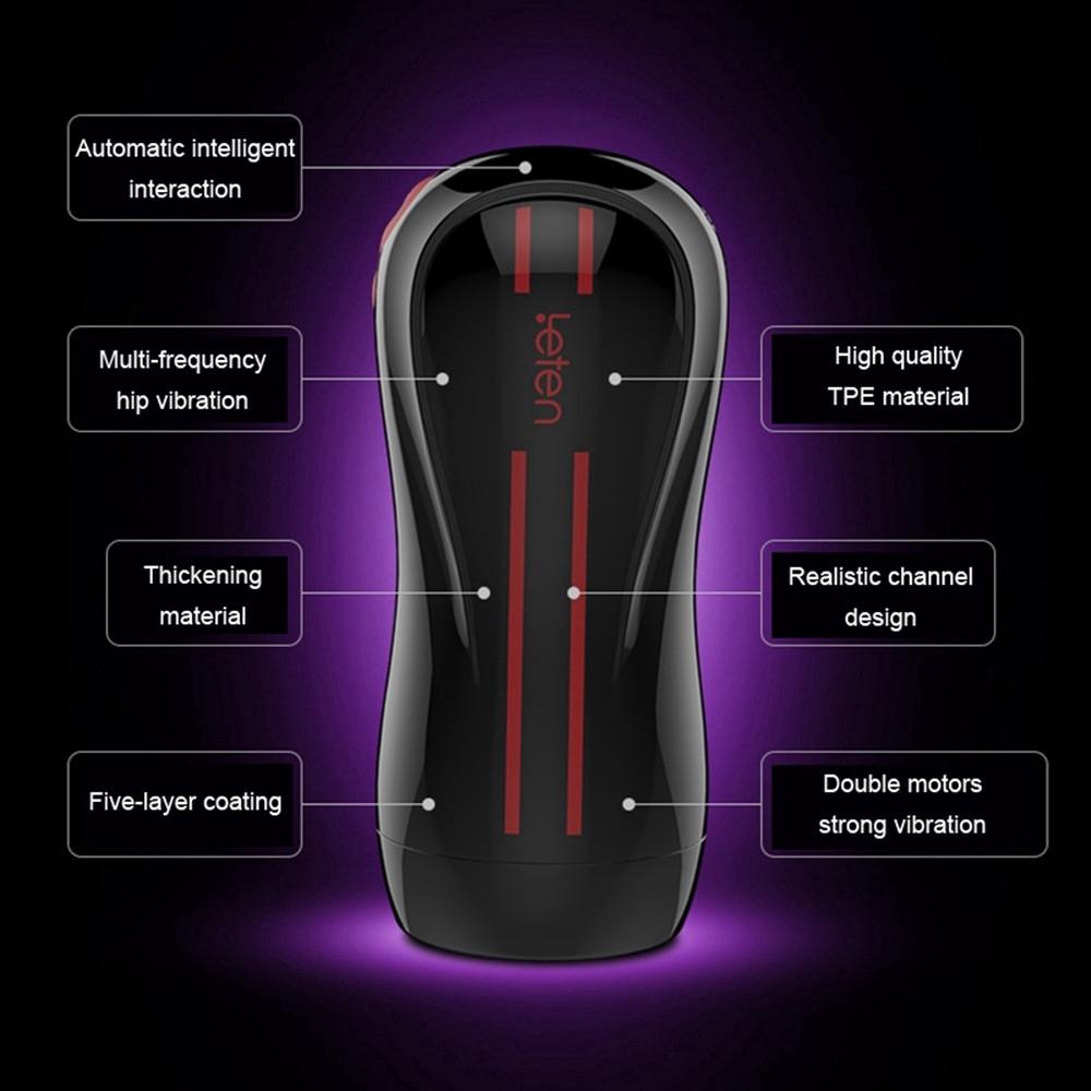(READY STOCK) Leten 3 Dual Motor Vibration Electric Male Masturbator Cup Sex Toys for Men (LOCAL SELLER)