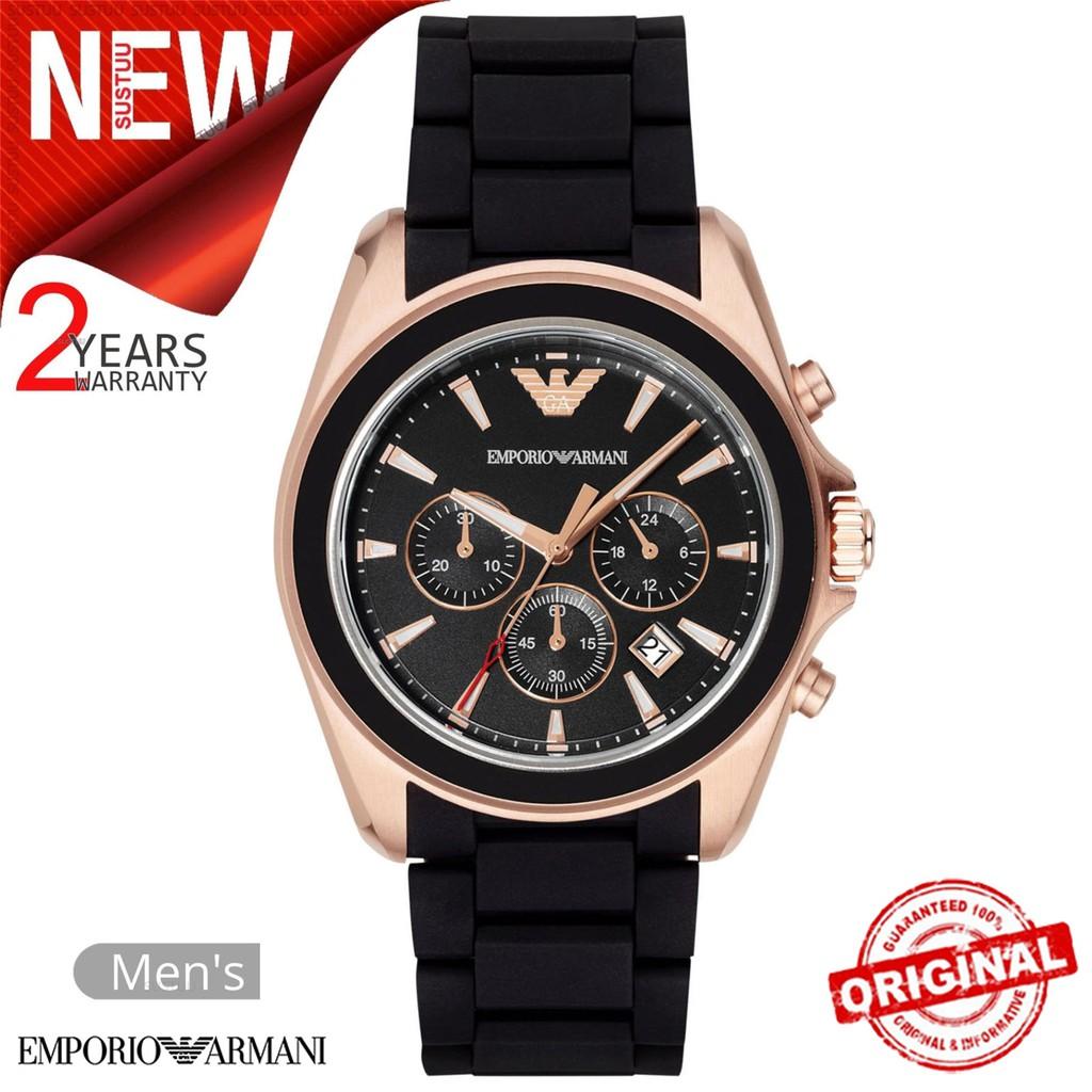 5fefdbec Emporio Armani Sportivo Men's Watch│Chronograph Black Dial│Rubber  Strap│AR6066
