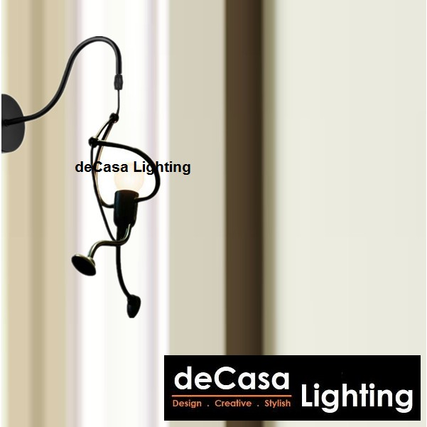 deCasa Lighting Best Seller Decorative Wall Lights (Black) Designer Wall Lamp Lampu Hiasan Dinding Anak- Anak(TY686-W)