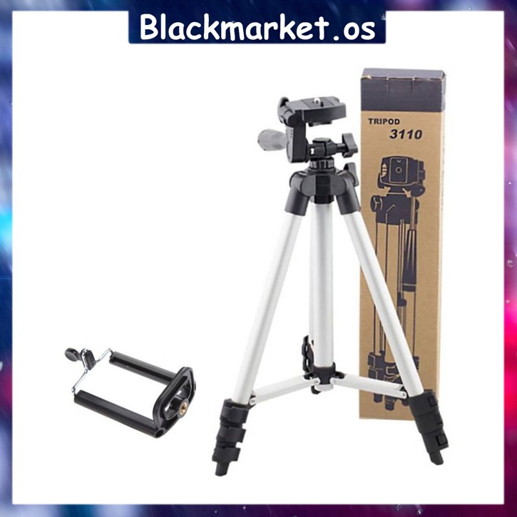 🔥Ready Stock🔥 Tripod 3110 Extendable Universal Portable Selfie Stand + Phone Holder for DSLR Camera / Mobile Phone